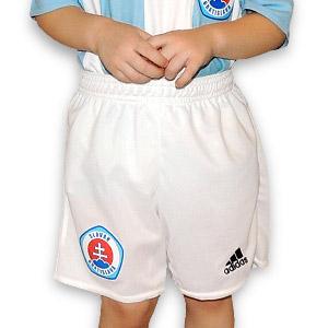 Futbalové trenky ŠK Slovan Adidas biele DETSKÉ - Fanshop SB 479700fed09