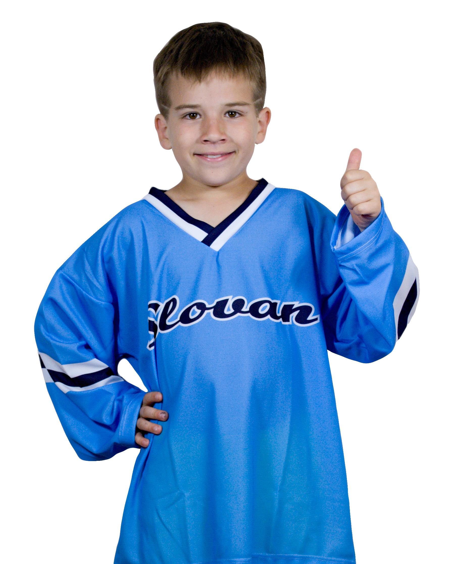 51fc3f6a60a7a Hokejový dres Slovan nápis belasý DETSKÝ - Fanshop SB
