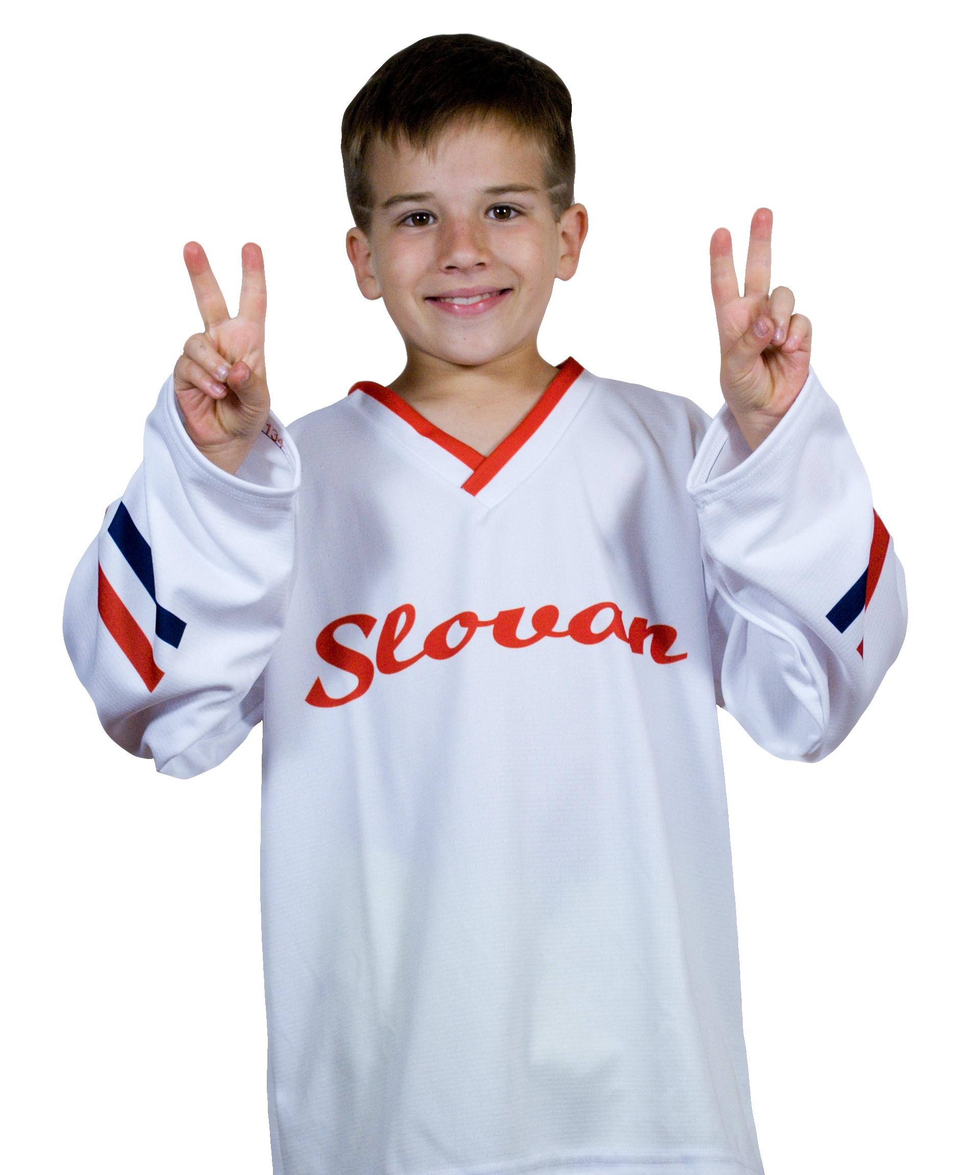 81c437e5b35df Hokejový dres Slovan nápis biely DETSKÝ - Fanshop SB