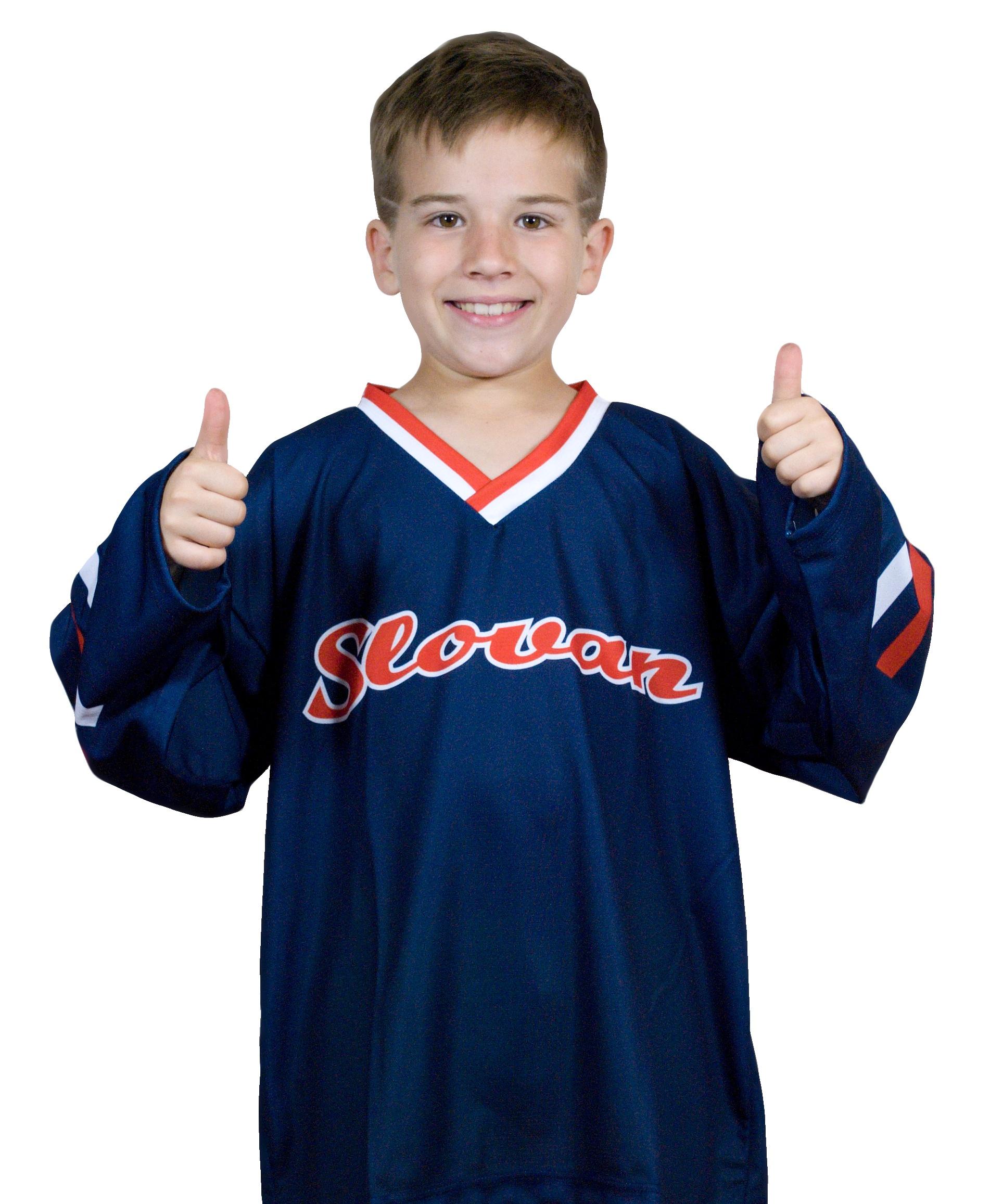 b2e6f45d76900 Hokejový dres Slovan nápis modrý DETSKÝ - Fanshop SB