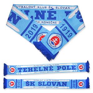0fdd543066777 Šál ŠK Slovan - TEHELNÉ POLE pletený - Fanshop SB