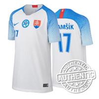 e6162f8f8af99 Futbalový dres SVK Nike DETSKÝ biely autentik 2018/2019 + meno a číslo