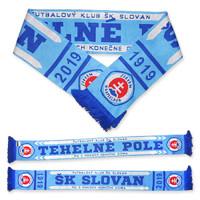 Šál ŠK Slovan - TEHELNÉ POLE pletený 5e79c2b5338